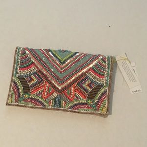 Beaded Bold Clutch BCBGeneration